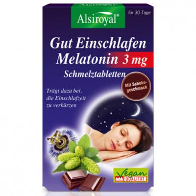 Alsiroyal Gut Einschlafen Melatonin 3 mg 30 st