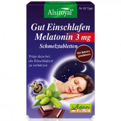 Alsiroyal Gut Einschlafen Melatonin 3 mg 60 st