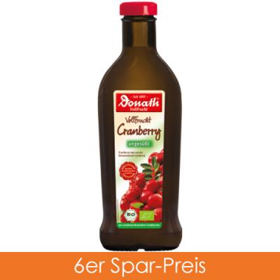 Donath Bio Vollfrucht Cranberry unges. 6x500ml