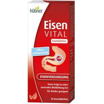Hübner Eisen Vital M+ Kautabletten 30st