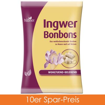 Hübner Ingwer Bonbons 10x69g