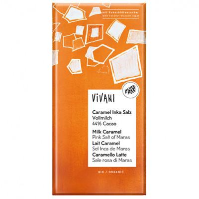 Vivani Caramel Inka Salz 44% Cacao 80g