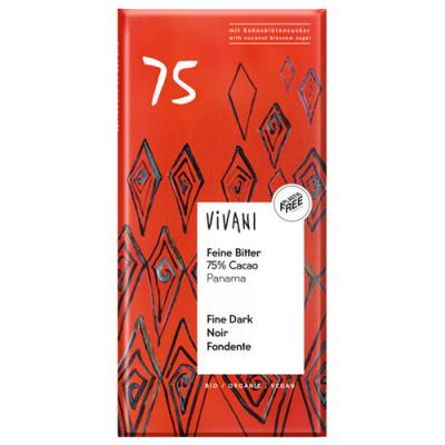 Vivani Feine Bitter Schokolade 75% Cacao 80g