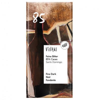 Vivani Feine Bitter Schokolade 85 % Cacao 100g