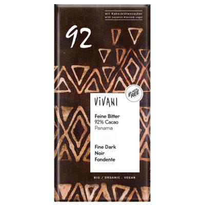 Vivani Feine Bitter Schokolade 92 % Cacao 80g